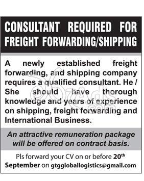 Consultant Job Vacancy at Freight Forwarding/ Shipping