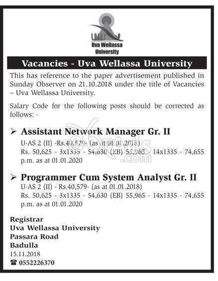 Network Manager, Secretary, Programmer, Statistical Officer