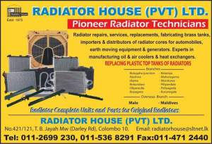 Radiators and Radiator Repairs & Services in Colombo10